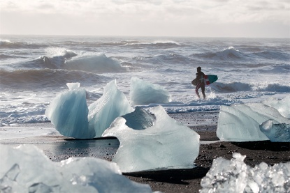 Jean-Claude Van Damme levels of cool as the film takes surfing to Iceland.